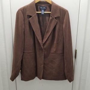 Denim & Co. Brown Blazer Size Large